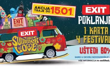Još do 15. siječnja na 4 festivala s jednom Exit ulaznicom
