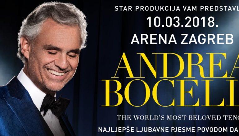 Andrea Bocelli za Dan žena u Areni Zagreb!