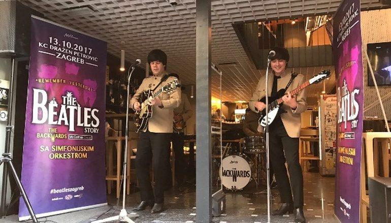 """U susret velikom spektaklu, """"Beatlesi"""" zapjevali u središtu Zagreba"""