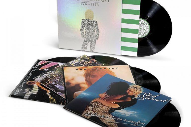 """Prva četiri albuma Roda Stewarta uz bonus LP dostupna u sklopu vinilnog box seta """"1975-1978"""""""