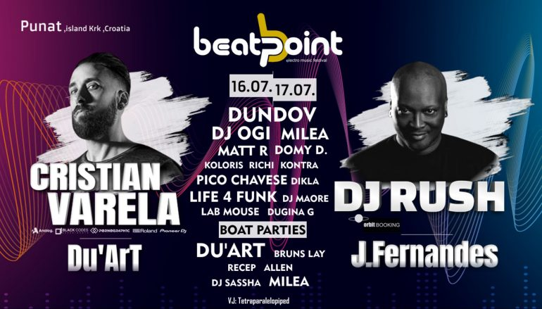 BeatPoint Festival u Punat na otok Krk dovodi DJ Rusha, Cristiana Varelu i još hrpu DJ-a