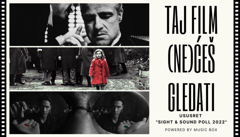 TAJ FILM (NE)ĆEŠ GLEDATI: 10 najdražih filmova urednika Music Boxa
